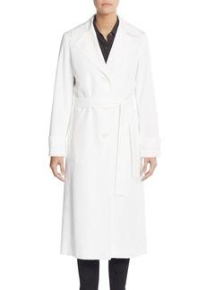 Cinzia Rocca Belted Notch Collar Raincoat