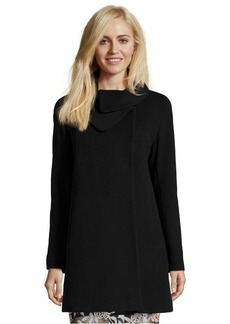 Cinzia Rocca black wool and cashmere blend envelope collar coat