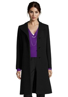 Cinzia Rocca black wool blend envelope collar 3/4 length coat