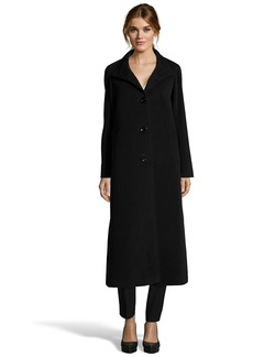 Cinzia Rocca black wool blend four button fro...