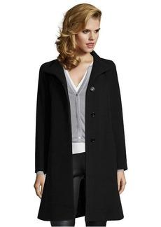 Cinzia Rocca black wool blend stand collar coat