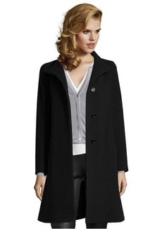 Cinzia Rocca black wool blend stand collar coat