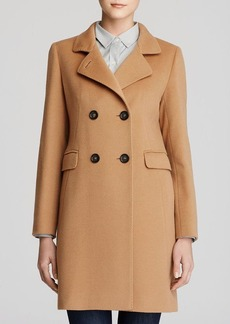 Cinzia Rocca Double Breasted Wool & Cashmere Coat
