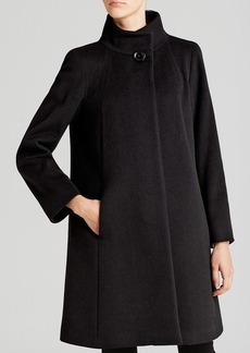Cinzia Rocca Coat - Due A-Line Funnel Neck Walker