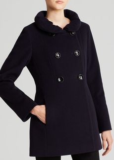 Cinzia Rocca Coat - Due Double Breasted Ruffle Collar