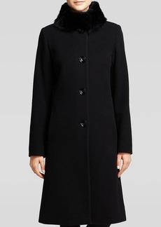 Cinzia Rocca Coat - Due Fur Trimmed