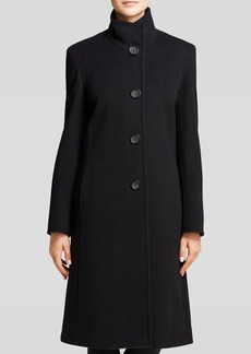 Cinzia Rocca Coat - Due Long Funnel Collar