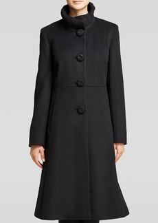 Cinzia Rocca Coat - Ruffle Collar Fit and Flare