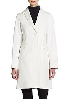 Cinzia Rocca Cotton Notched-Lapel Coat