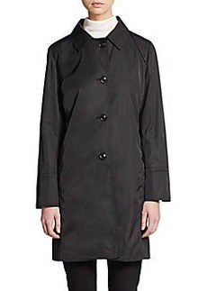 Cinzia Rocca DUE Button-Front Nylon Trench Coat