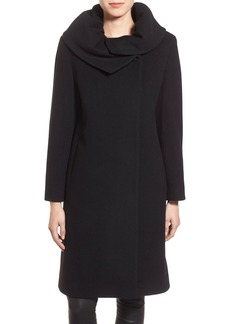 Cinzia Rocca DUE Envelope Collar Long Wool & Cashmere Blend Coat (Petite)