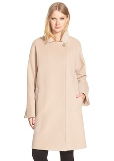 Cinzia Rocca DUE One Button Wool Blend Long A-Line Coat