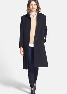 Cinzia Rocca DUE Stand Collar Long Wool Blend Coat (Petite)