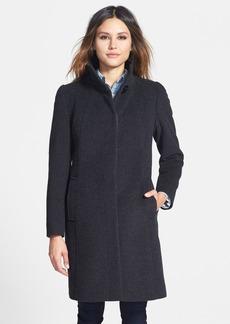 Cinzia Rocca DUE Stand Collar Wool Blend Coat (Petite)