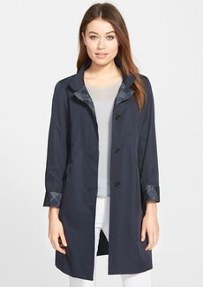Cinzia Rocca DUE Windowpane Trim Raincoat