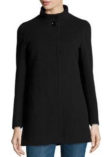 Cinzia Rocca Due Wool-Blend Mid-Length Coat, Black