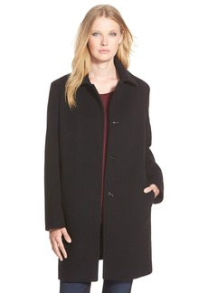 Cinzia Rocca DUE Wool Blend Shirt Collar Walking Coat (Regular & Petite)