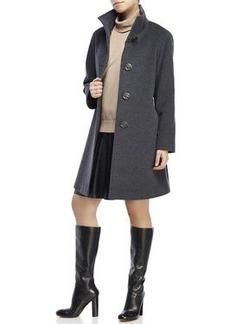 cinzia rocca Funnel Neck Wool Coat