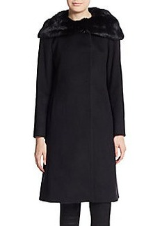 Cinzia Rocca Fur Collar Wool-Blend Coat