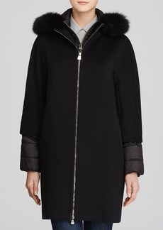 Cinzia Rocca Hooded Coat with Quilted Underlay
