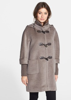 Cinzia Rocca Knit Trim Wool Duffle Coat