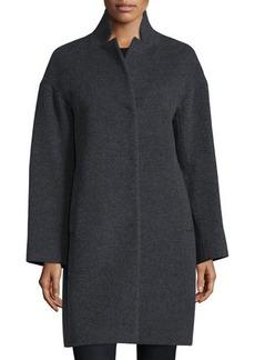 Cinzia Rocca Notched-Collar Cocoon Coat