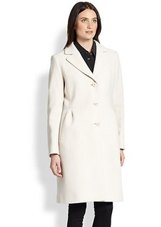 Cinzia Rocca Pleated Walking Coat