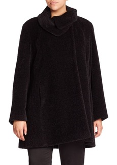 Cinzia Rocca, Plus Size Wool & Alpaca Car Coat