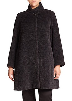 Cinzia Rocca, Plus Size Wool & Angora Walking Coat