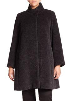 Cinzia Rocca, Plus Size Wool & Angora Walking Coat