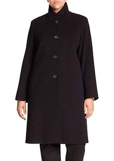 Cinzia Rocca, Plus Size Wool-Blend Walking Coat