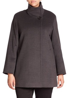 Cinzia Rocca, Plus Size Wool Short Coat