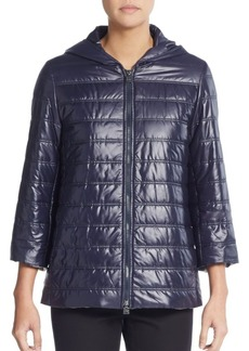Cinzia Rocca Quilted Hooded Rain Jacket