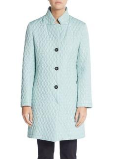 Cinzia Rocca Quilted Three-Quarter Raincoat