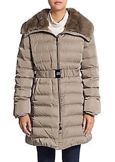 Cinzia Rocca Rabbit Fur-Trimmed Puffer Coat