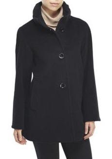 CINZIA ROCCA Ruffle Collar Short Coat