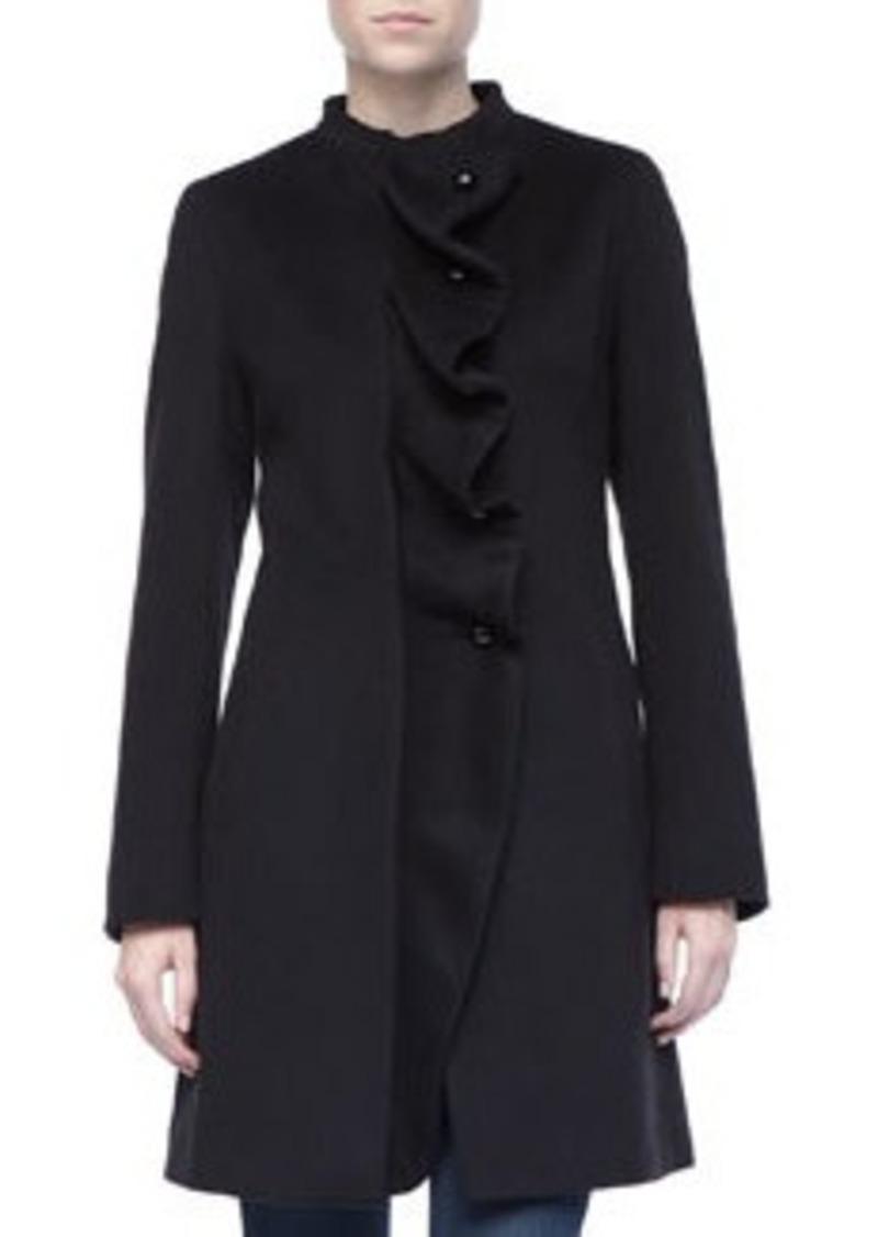 Cinzia Rocca Ruffled Front Wool Coat
