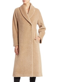 CINZIA ROCCA Single-Button Wool-Blend Coat