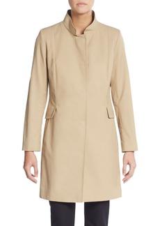 Cinzia Rocca Stretch Cotton Stand Collar Coat
