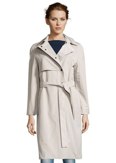 Cinzia Rocca taupe water-resistant cotton belted trench coat