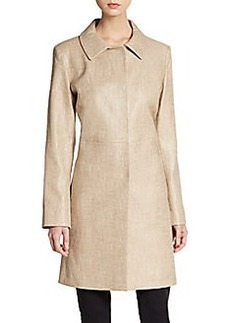 Cinzia Rocca Textured Cotton Coat