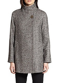 Cinzia Rocca Tweed Car Coat