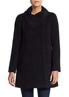 Cinzia Rocca Virgin Wool-Blend Draped Coat