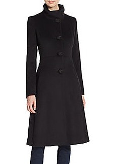 Cinzia Rocca Virgin Wool Fit-And-Flare Coat