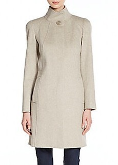 Cinzia Rocca Virgin Wool Turtleneck Coat
