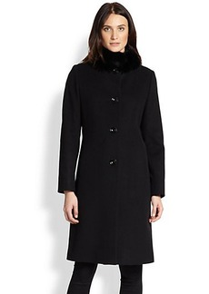 Cinzia Rocca Wool & Alpaca Fur-Collar Coat