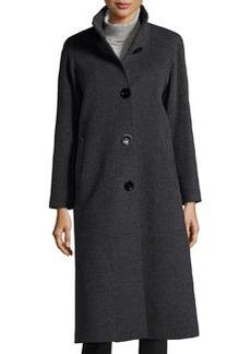 Cinzia Rocca Wool-Blend 4-Button Coat, Gray