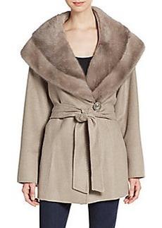 Cinzia Rocca Wool-Blend Mink Coat