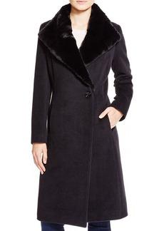 Cinzia Rocca Wool Coat with Fur Collar