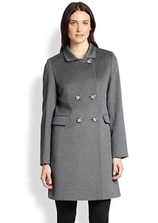 Cinzia Rocca Wool Double-Breasted Walking Coat